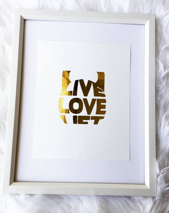 Live Laugh Lift gold foil print rose gold foil print