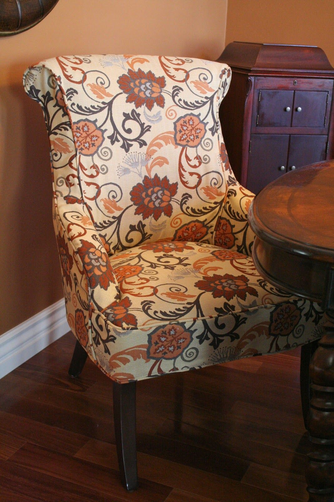 Accent head chairs for a dining set. DIY slipcover idea ...
