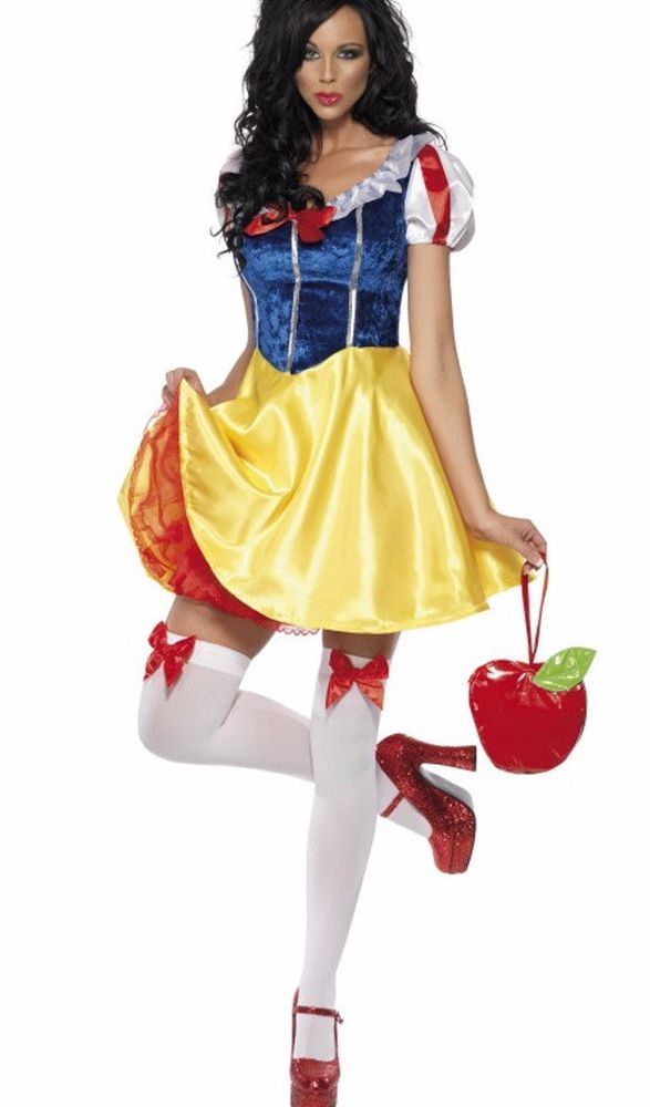 FANCY DRESS COSTUME # LADIES SNOW WHITE FAIREST OF THEM ALL SIZE 10-14