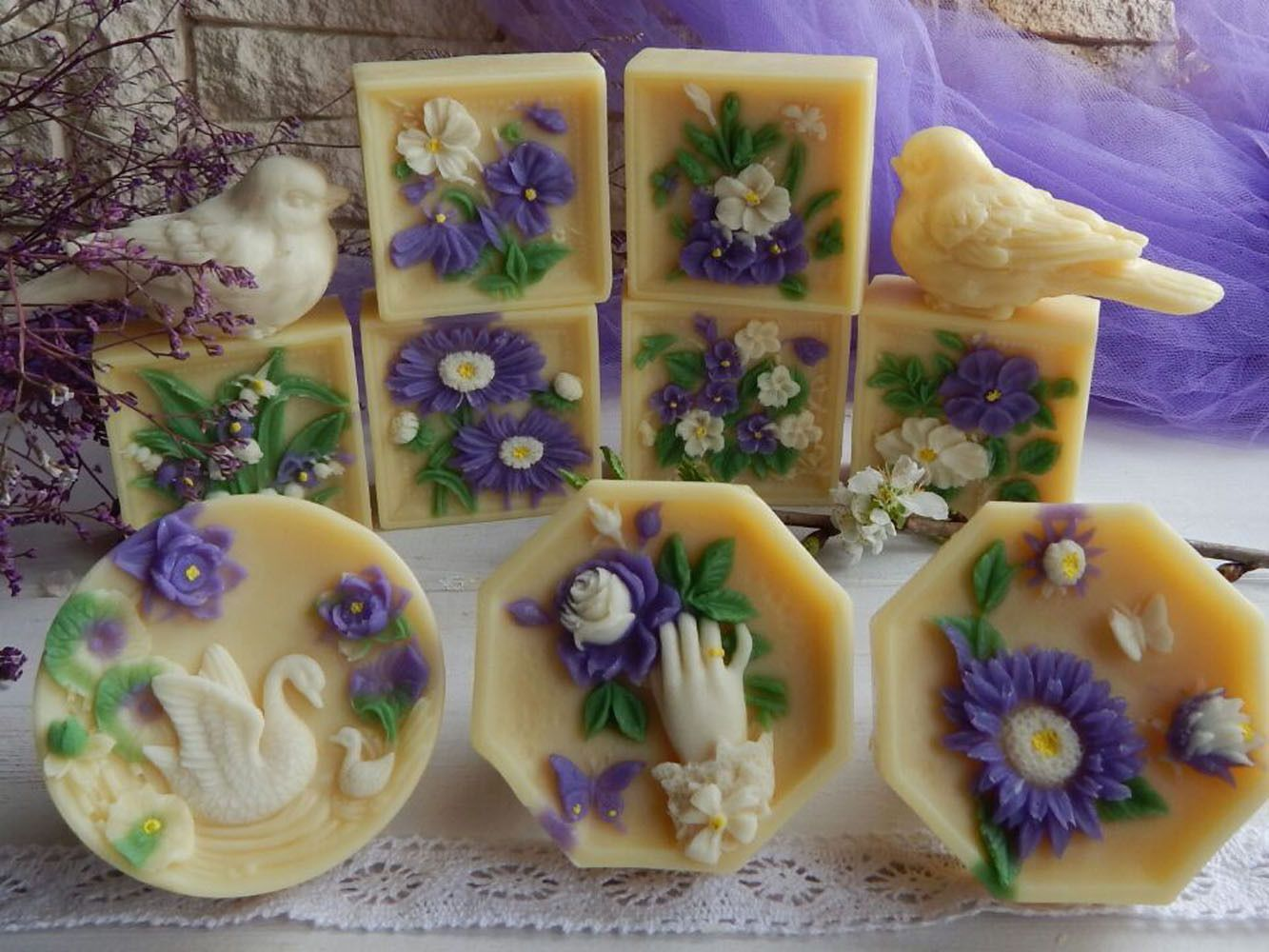 Details about Oval Flower Silicone Soap Candle Mold Soap