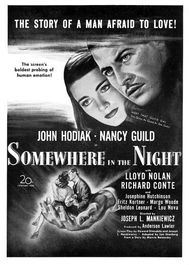 somewhere in the night 1946 movie poster movie