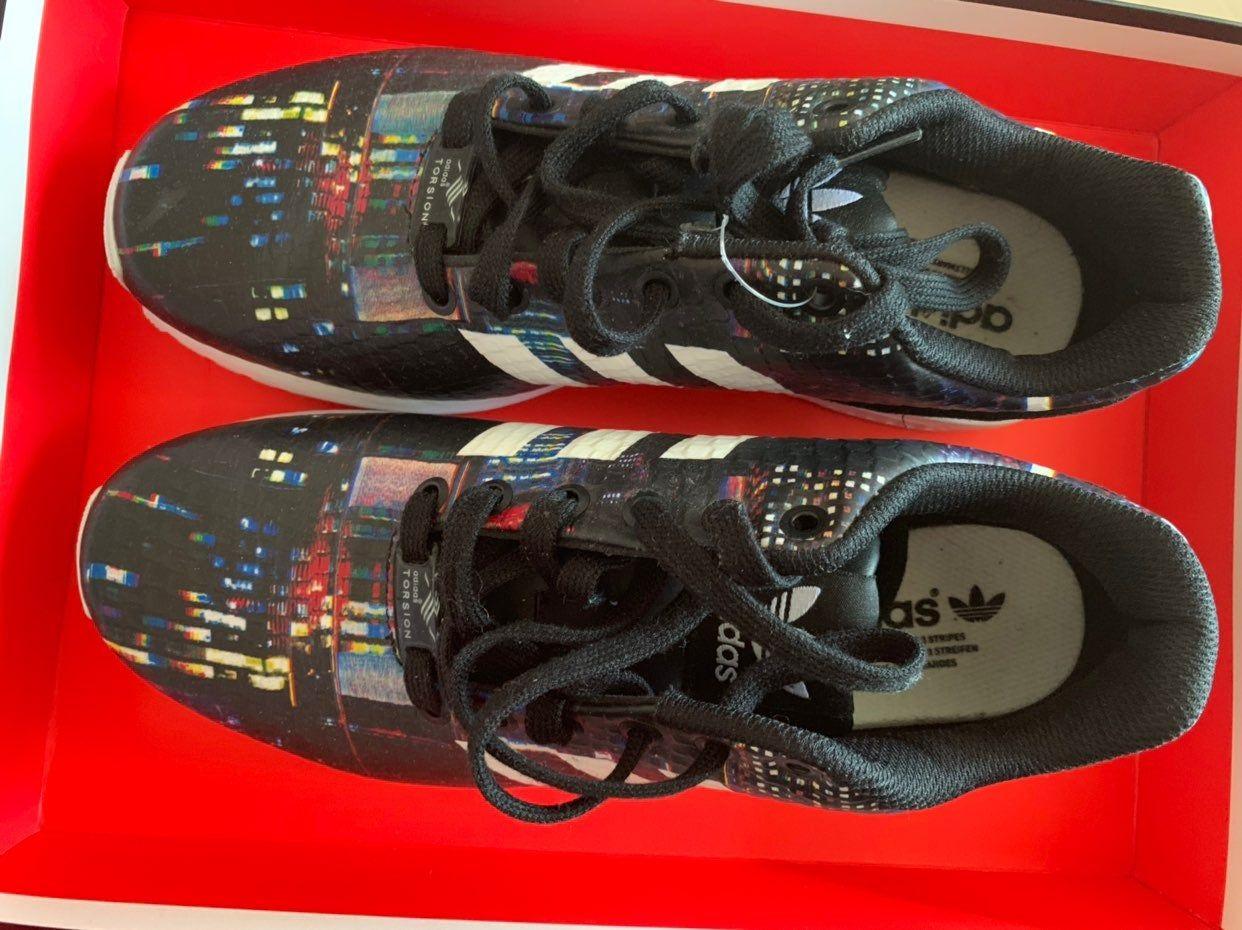 adidas zx flux print trainer