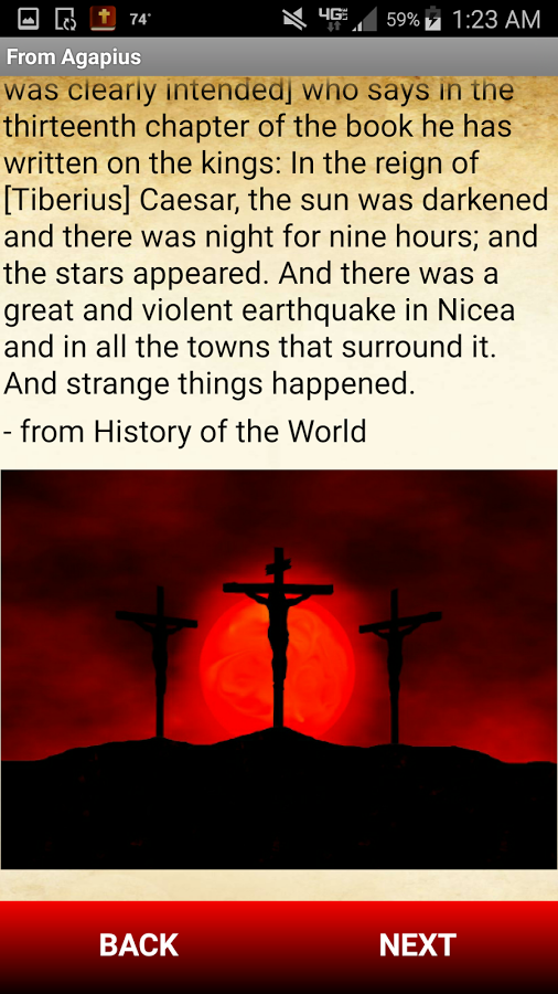 This app contains testimonies and written fragments by