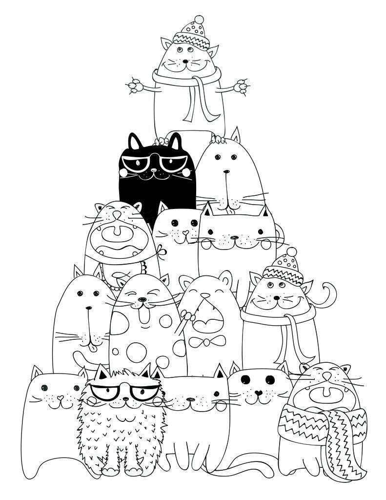 dessin à imprimer pyramide chat coloriage   Coloring pages   Pinterest