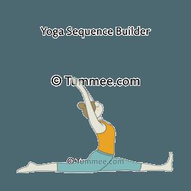 splits pose yoga hanumanasana  yoga sequences benefits