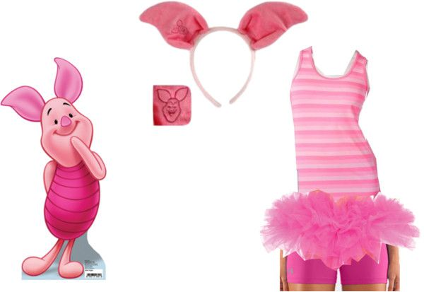 Piglet Running Costume By Amymarcum On Polyvore Sc 1 St Pinterest  sc 1 st  Germanpascual.Com & Piglet Costume Adult u0026 Pink Pig Plus Size Halloween Costume For ...