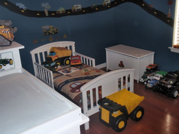 toddler boy room, my son loves trucks & cars of all kinds..so i hand