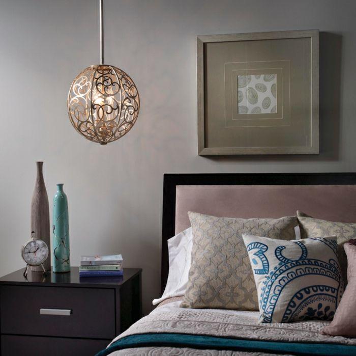 1001 id es pour une lampe de chevet suspendue dans la chambre coucher lighting - Luminaire suspendu chambre a coucher ...