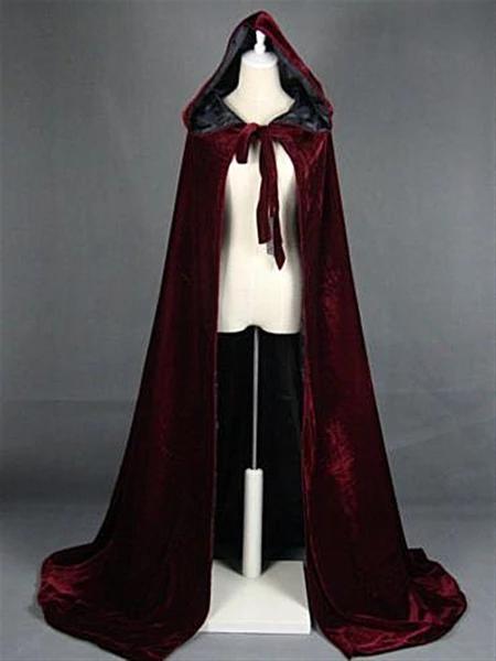 Black Wool Adult Cape Medieval Cloak Bridal Halloween Vampire By SewingCreators