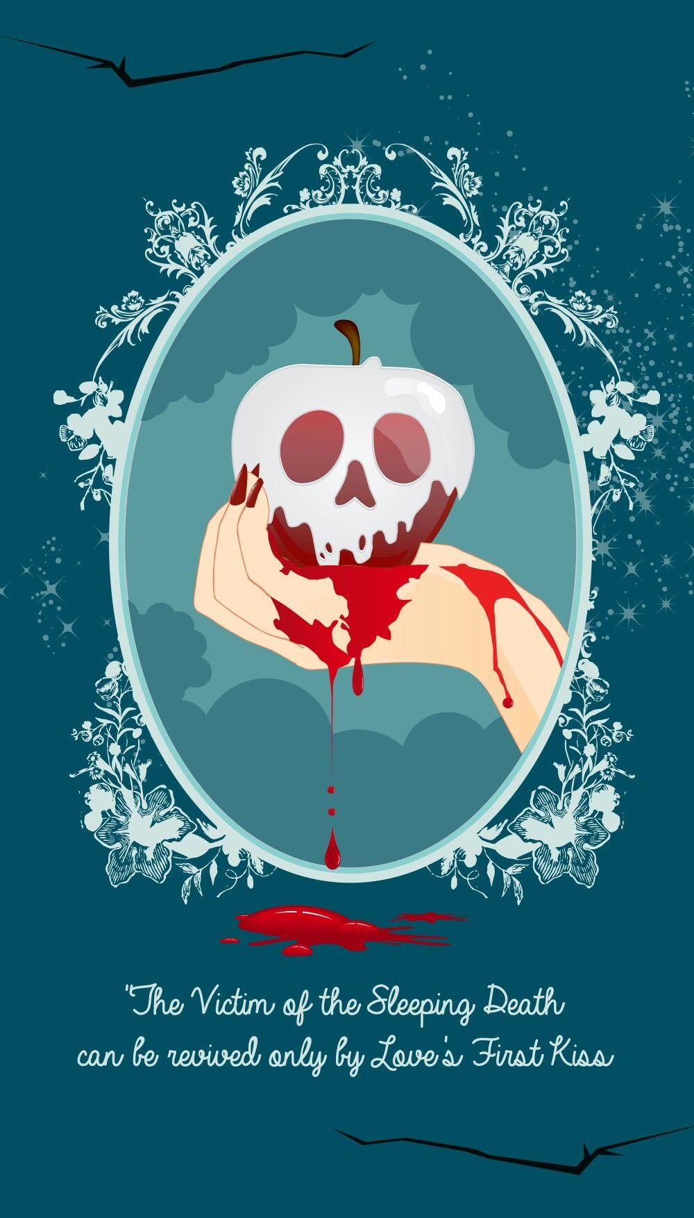 Illustration cl mentine benoliel blanche neige la pomme empoisonn e pour halloween - Blanche neige halloween ...