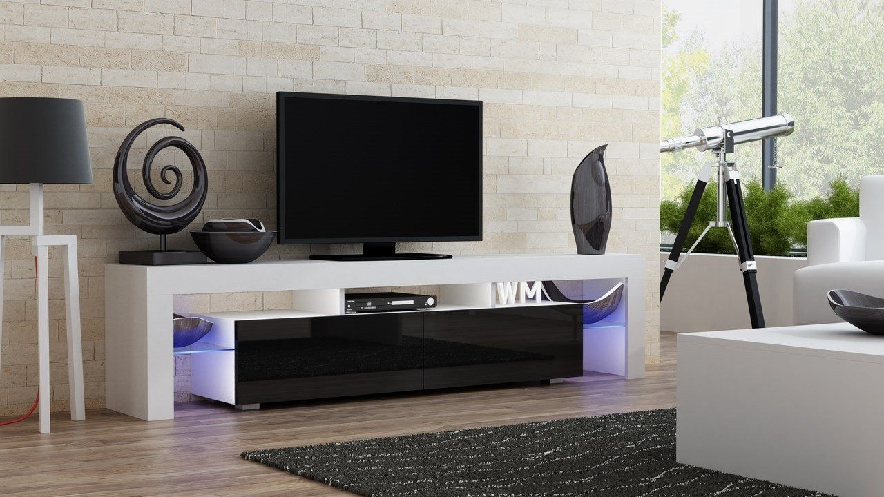 Modern Living Room Design With Tv Stand Milano 200 Modern Led Tv