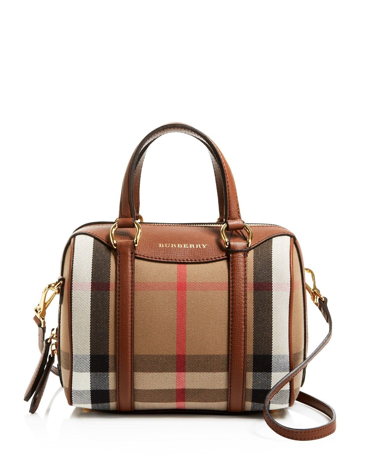 59315c91abc2 Burberry Small House Check Alchester Bowling Satchel ...