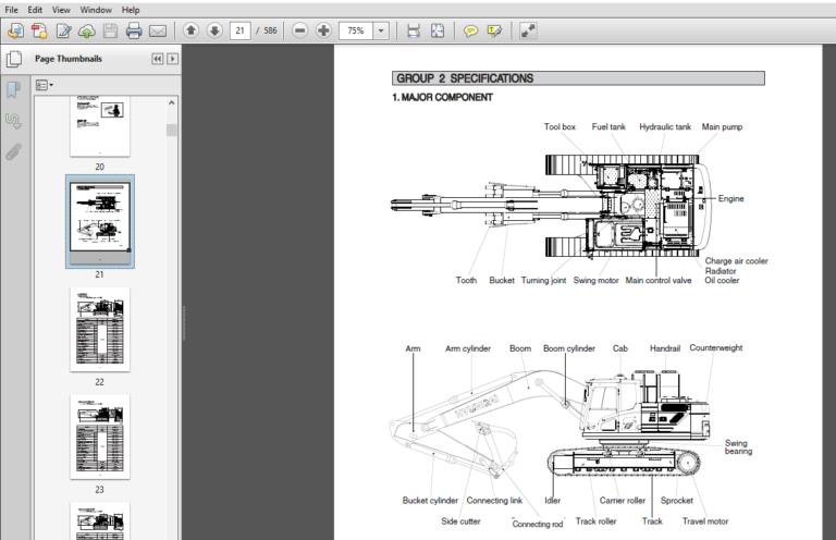 Hyundai Hx220l India Crawler Excavator Service Repair Manual Pdf Download In 2020 Repair Manuals Hyundai Excavator