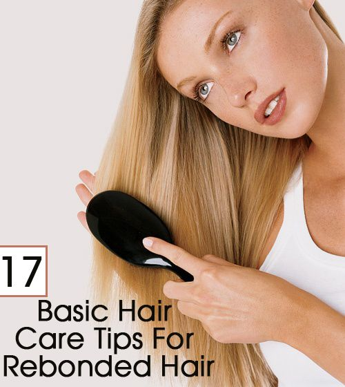 how to take care of straightened hair