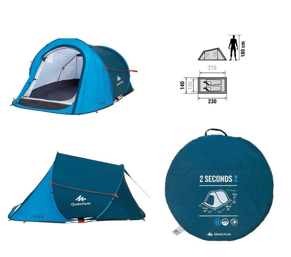 Quechua 2 Personen Zelt Pop Up Wurfzelt Camping Strand