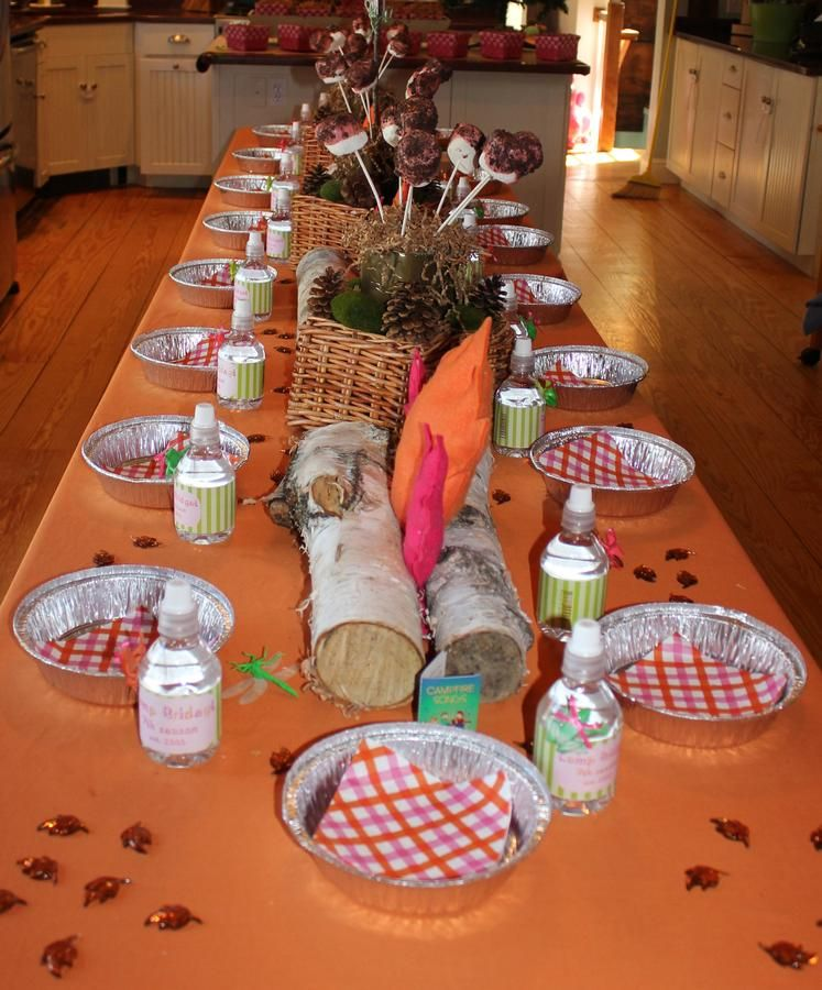 Birthday Table Mountain: @Jessica Fletcher, Camping Theme, This Is A Cute Idea For