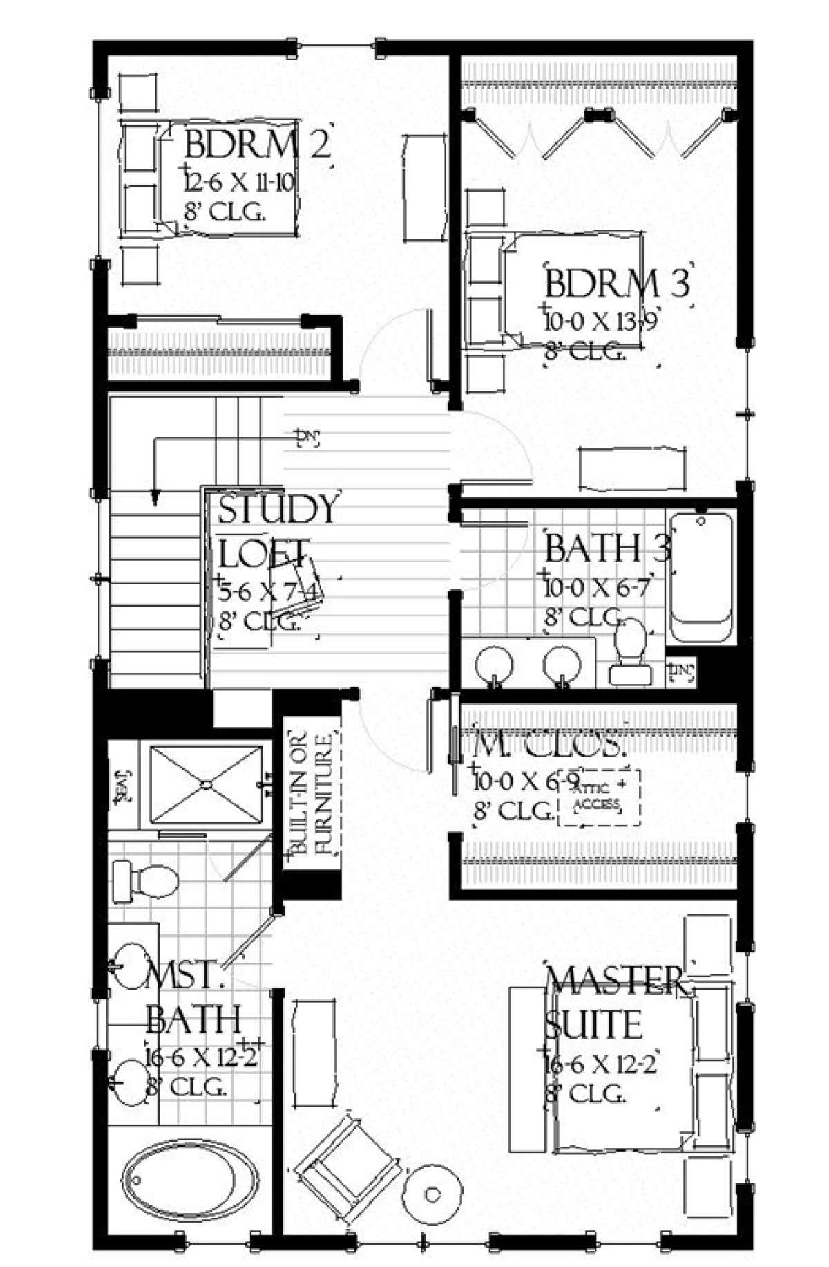 House Plan 1637 00130 Country Plan 2 063 Square Feet 3 Bedrooms 2 5 Bathrooms In 2020 Narrow Lot House Plans House Floor Design Small Floor Plans