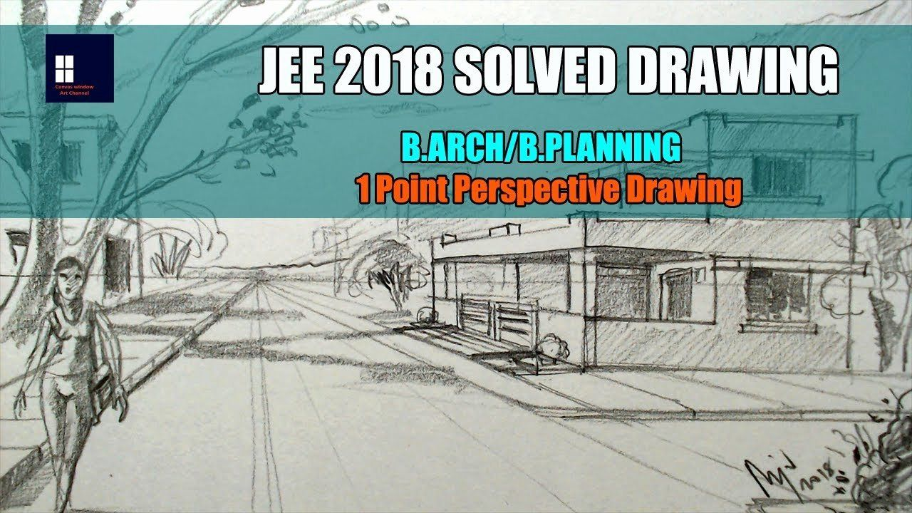 Nata Perspective Drawing Book New Jee 2018 Solved Drawing B Arch B Planning Perspective Drawing Drawings Perspective