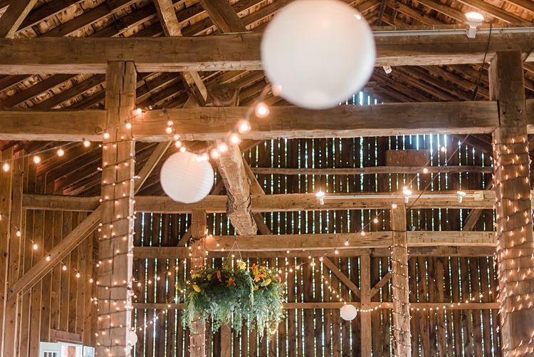 Barn Decor Festoon Lighting Colourful Bohemian Wedding Pennsylvania Dawn