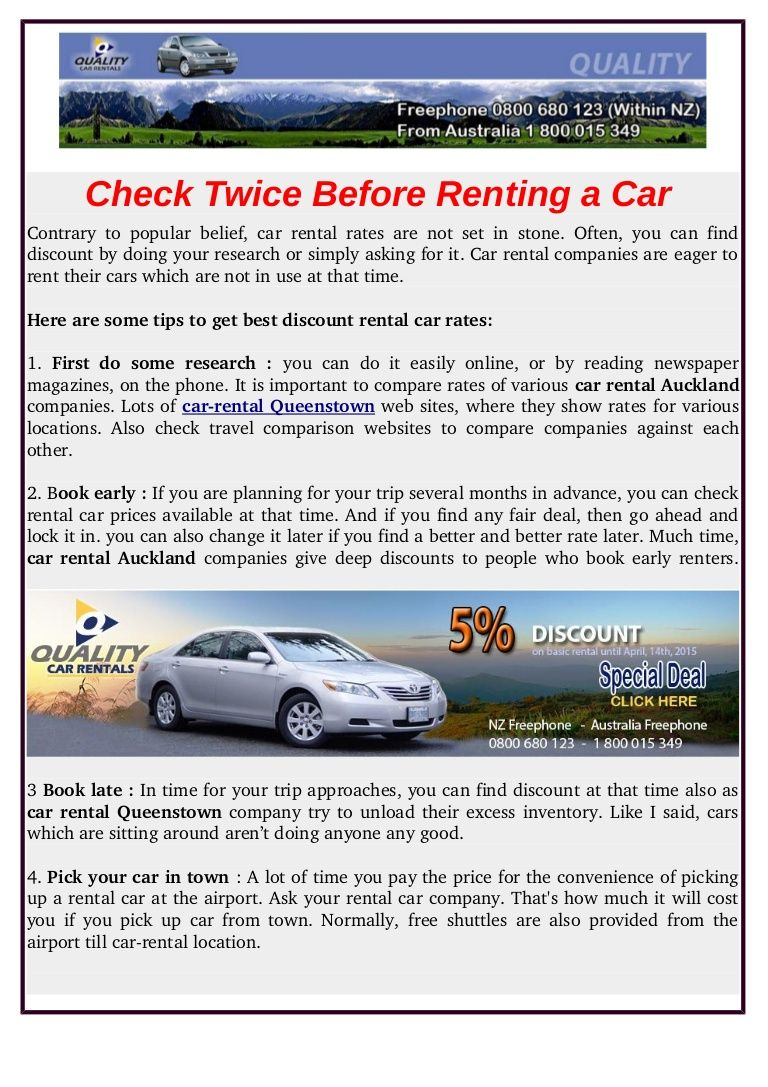 If you are looking for car rental in queenstown quality car rentals provides some tips to get best discount rental cars rates pinterest