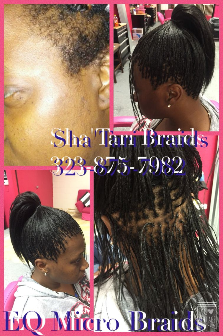 350 Human Hair Micro Braids With Hair Included Short Damaged