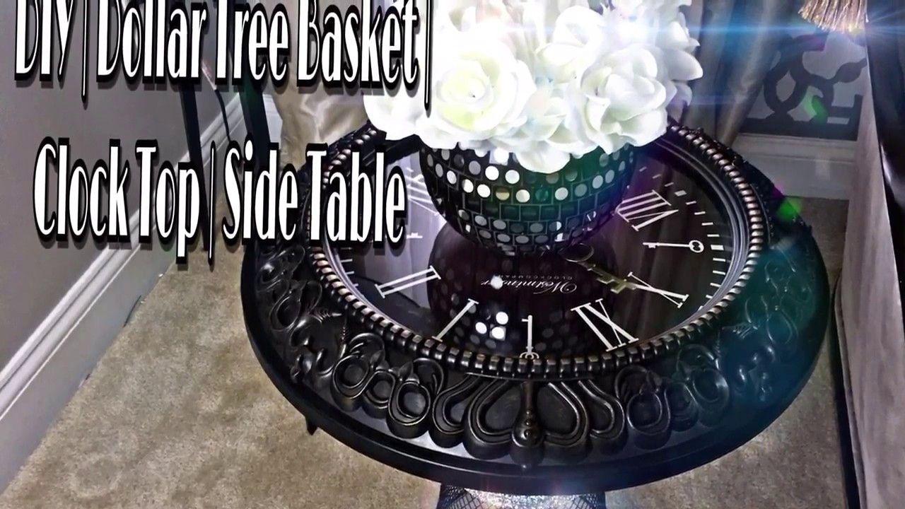 Diy Dollar Tree Basket Luxe Side Table 12 Diy Pinterest