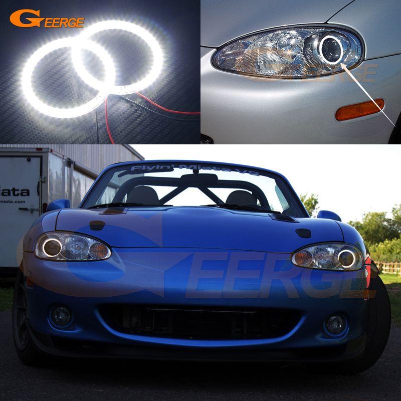 For Mazda Mx 5 Miata 2001 2002 2003 2004 2005 Excellent Angel Eyes Ultra Bright Illumination Smd Led Angel Eyes Kit Halo Rings Car Lights Mazda Mazda Mx5