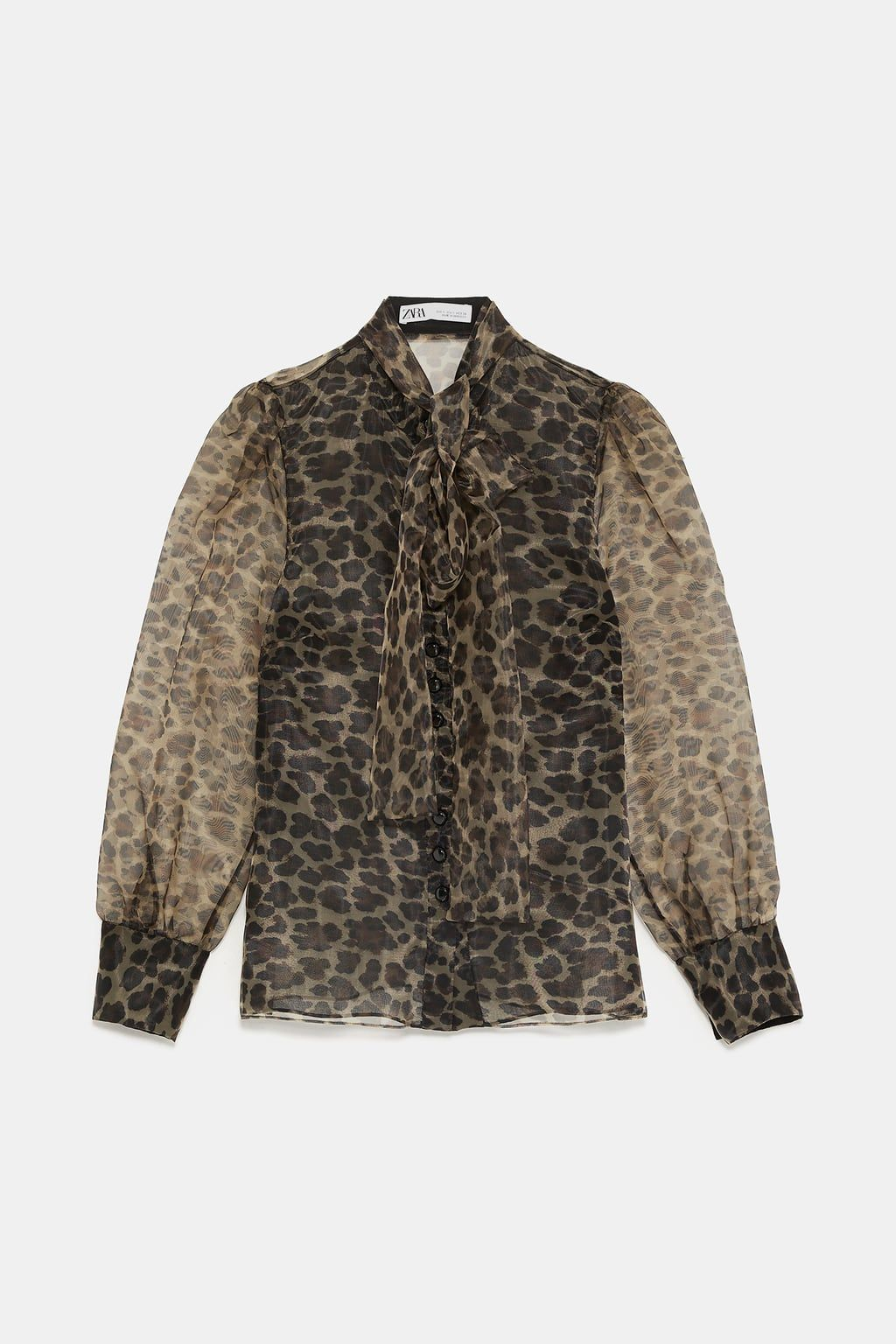 9ba2b90cdcb75e Animal print blouse with tie in 2019   when you wish upon a ...