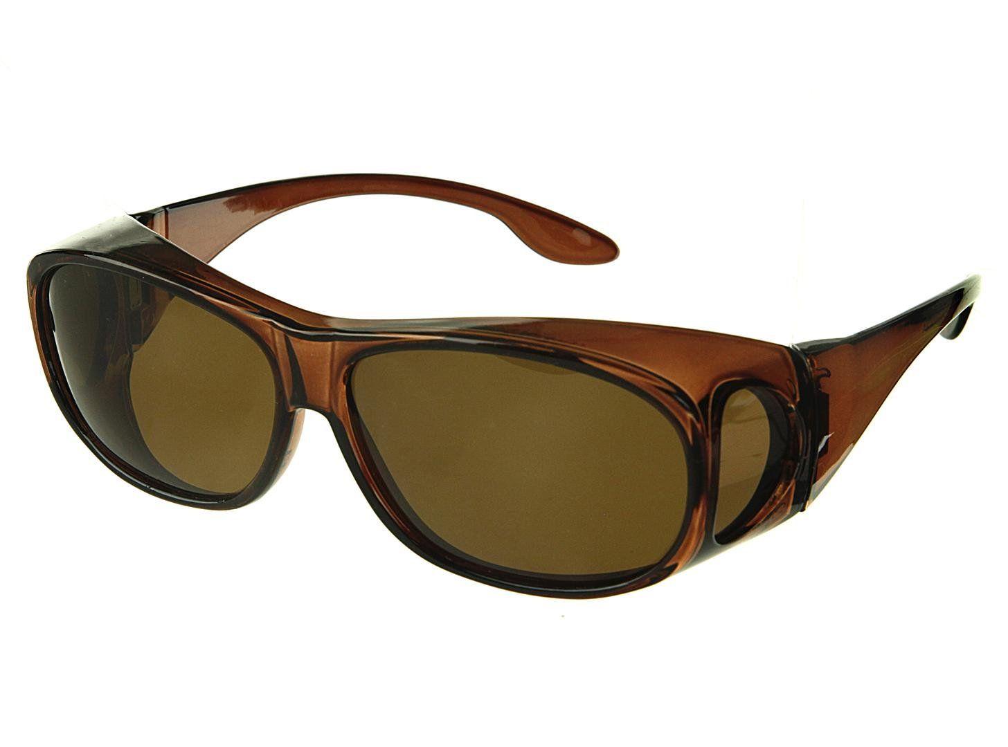 0487aaa4270 LensCovers Sunglasses Wear Over Prescription Glasses. Polarized Size Medium.