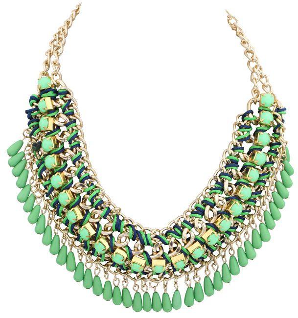 Maxi bohemien collana romantic vintage acrilico goccioline di acqua nappa donne choker bijoux collier dichiarazione collare maxi collana
