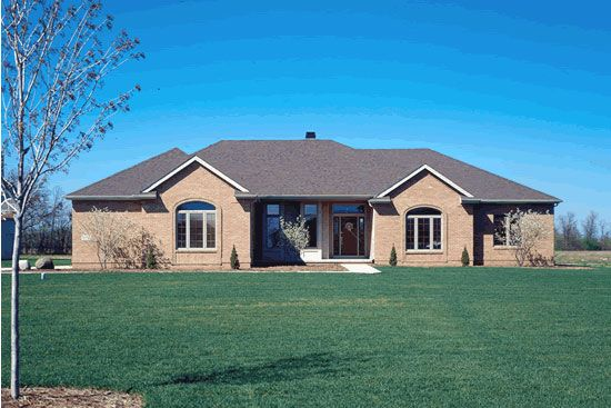 House Plan Chp 2320 At Coolhouseplans Com Brick Ranch Ranch House House Plans