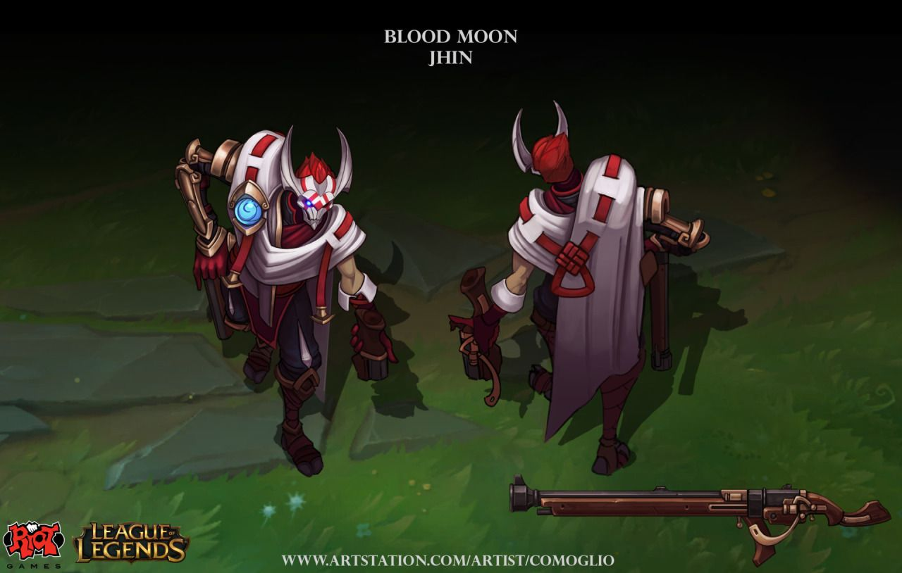 Resultado de imagem para jhin lua sangrenta concept