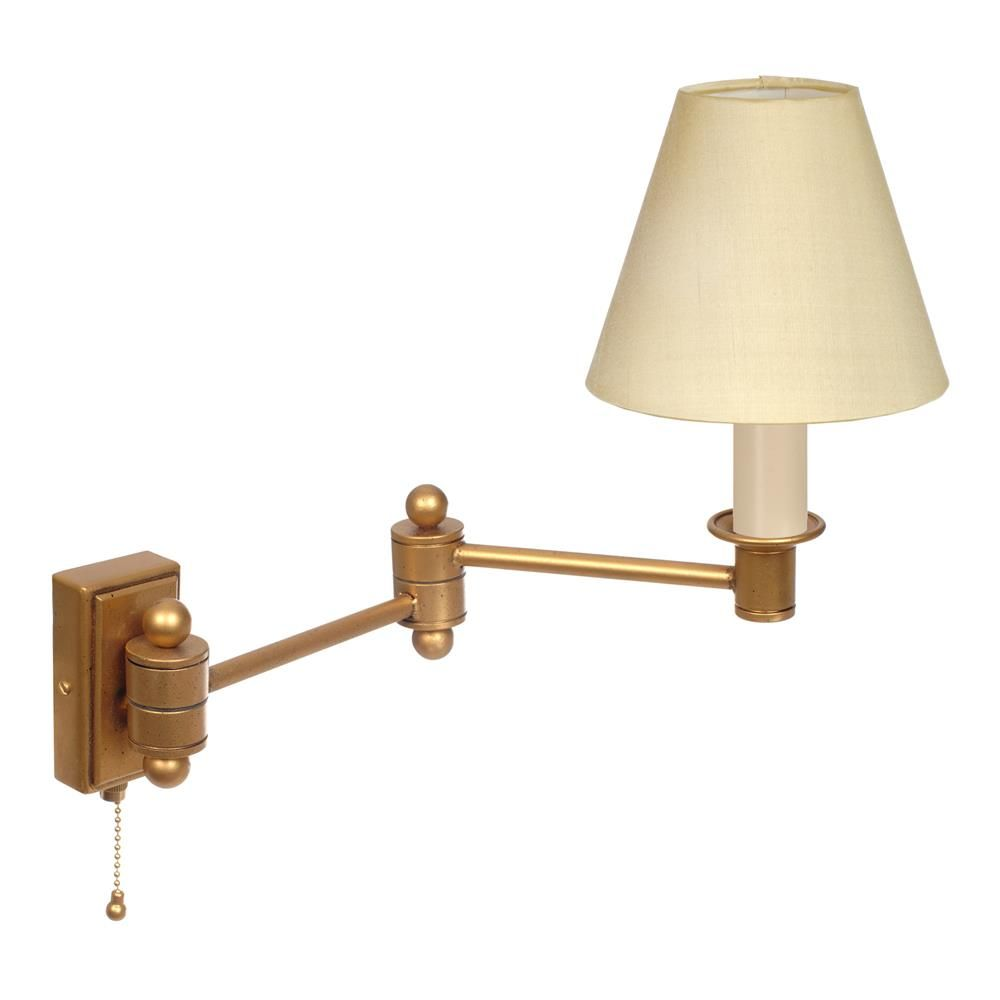 Adjustable Wall Lights Elegant Hinged Arm Wall Light with Pull Cord antique brass ...