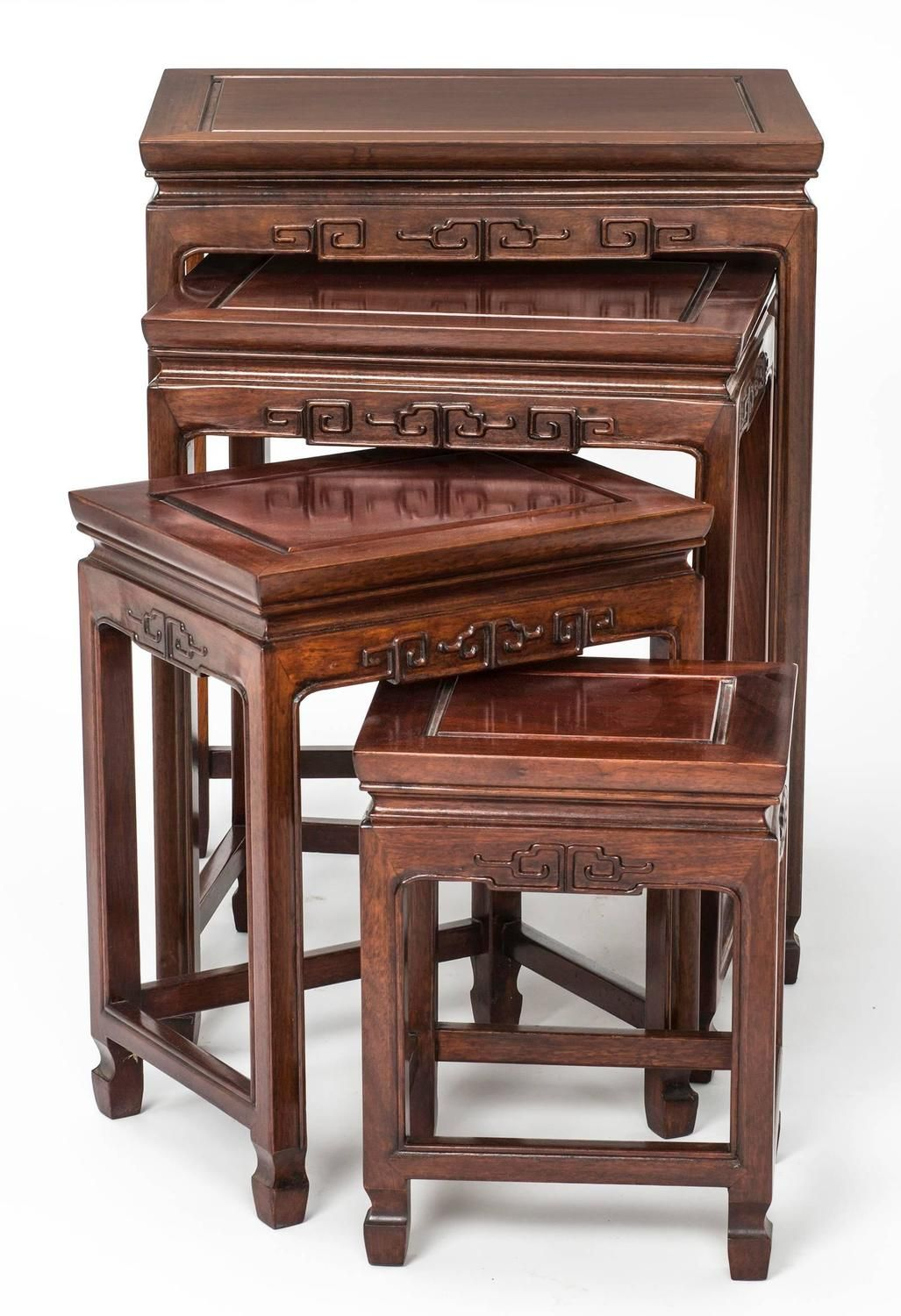 Rosewood Chinese Nesting Tables | From a unique collection of antique and modern…