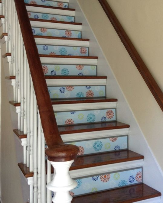 Alternative To Decals Stair Stickers Coastal Beach Decor Customize Your Stair Riser Art At Www Tribut Coastal Beach Decor Painted Stairs Stair Stickers
