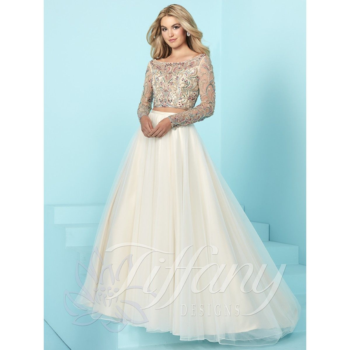 Tiffany Designs 16256 elegant prom dress or pageant gown #ipaprom ...