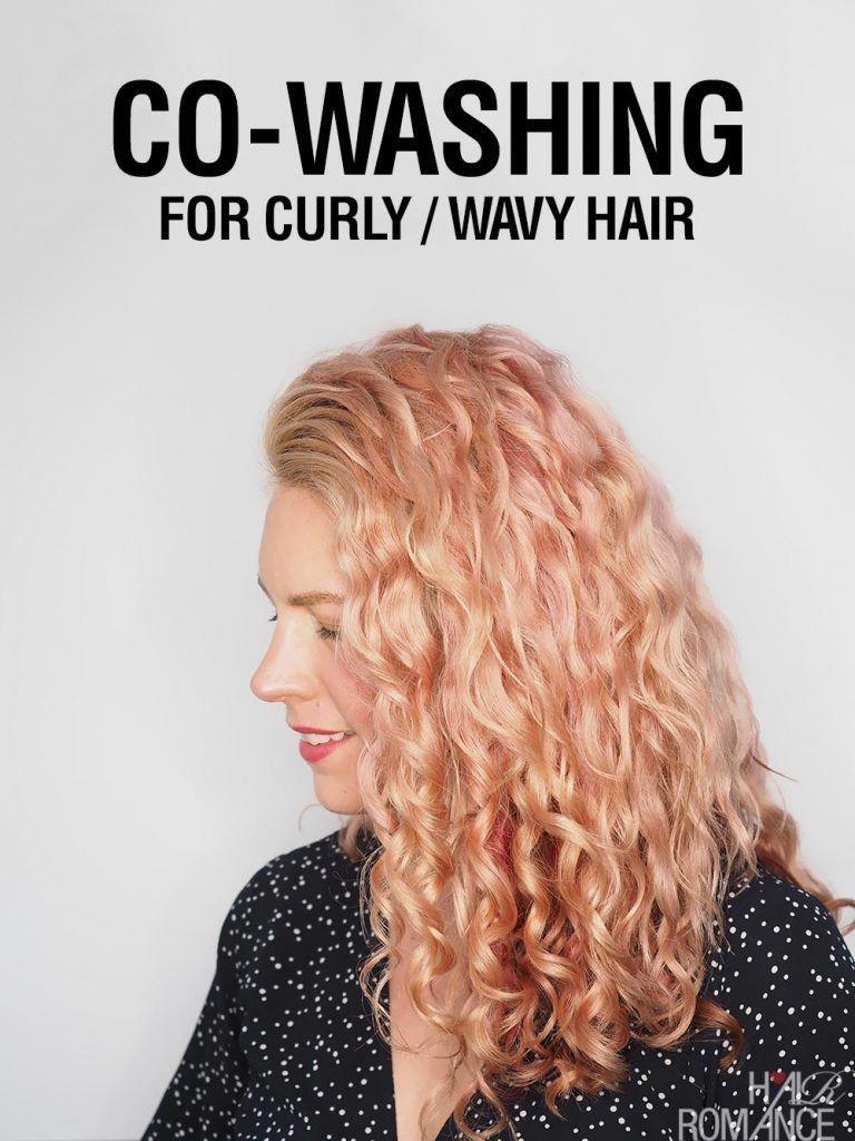 Cowashing for wavy curly hair – Hair Romance #curlybangs