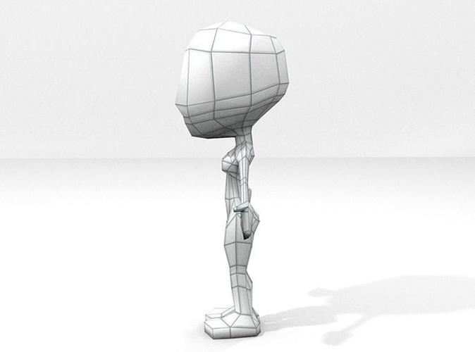 Female Chibi Lowpoly Character Base Mesh 3D Model Game ready  fbx