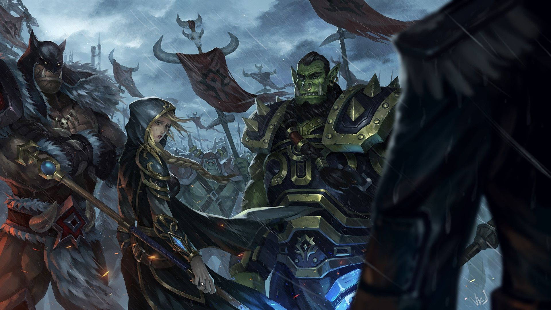 Videogame World Of Warcraft Knight Warrior Armor Anduin Lothar Hd