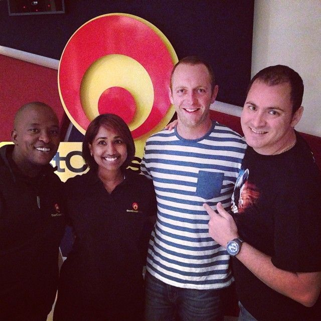 Jan Braai is in studio this morning! Who is super keen for #BraaiDay tomorrow? We are!