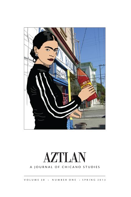 Cover of the Aztlan journal with Frida Kahlo in an track suit.
