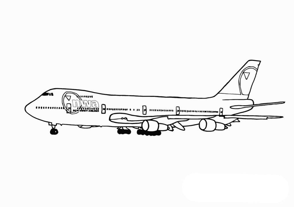 big airplane airplane coloring pages