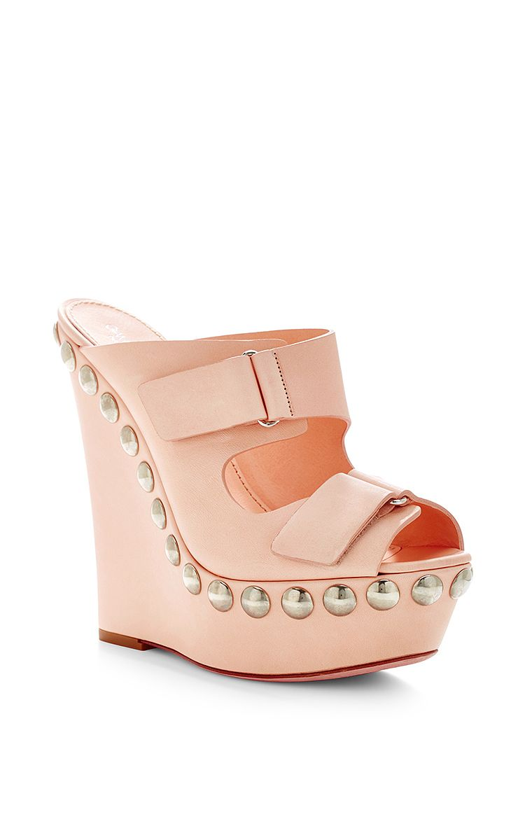 Giambattista Valli Leather Platform Wedges low shipping fee cheap price cheap prices reliable store sale online CtJGMA