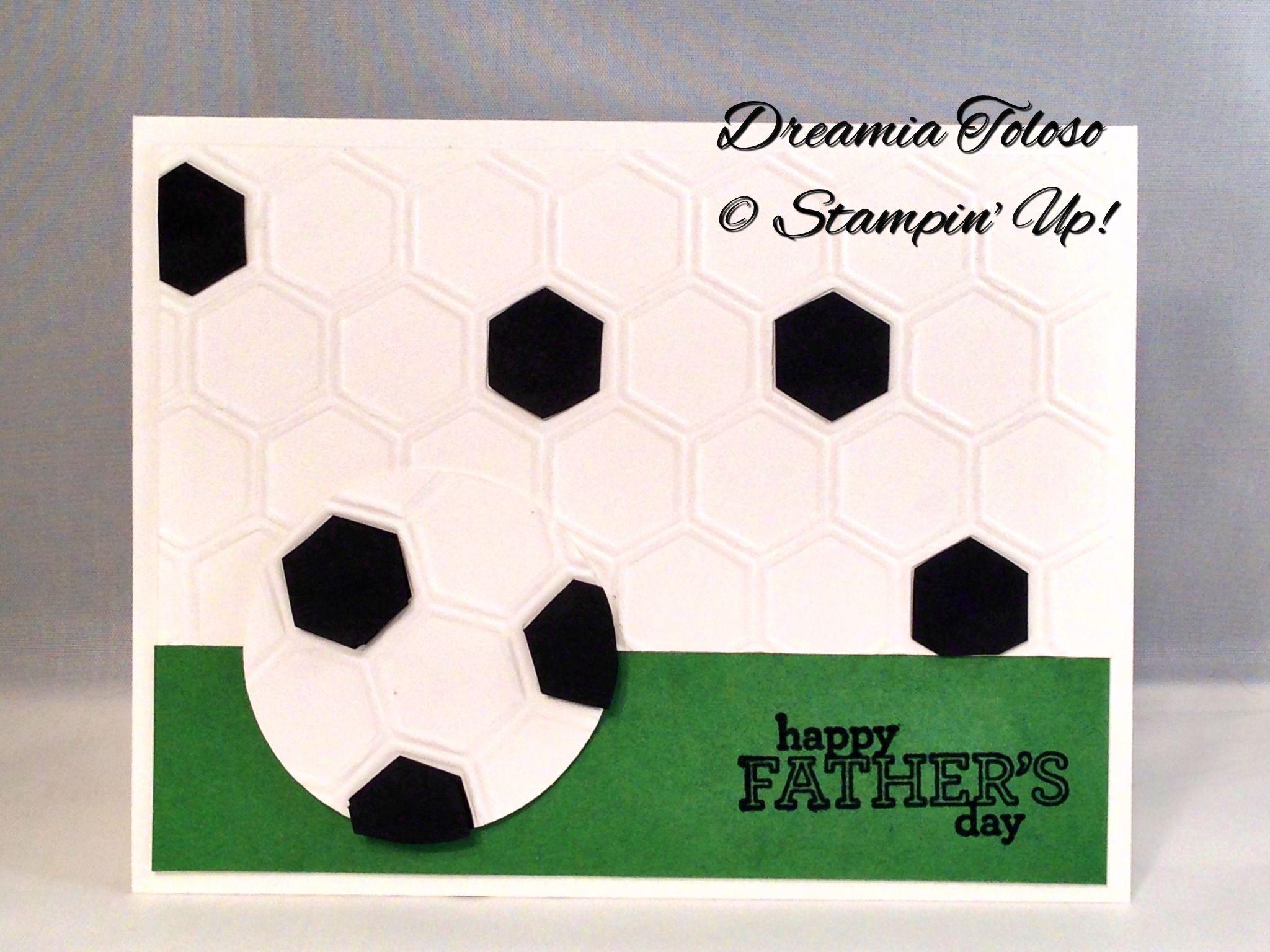 Honeycomb embossing folder, sentiment from Delightful Dozen stamp set.