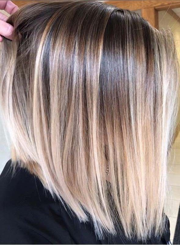 Gorgeous Balayage Highlights with Dark Roots for Ladies 2019
