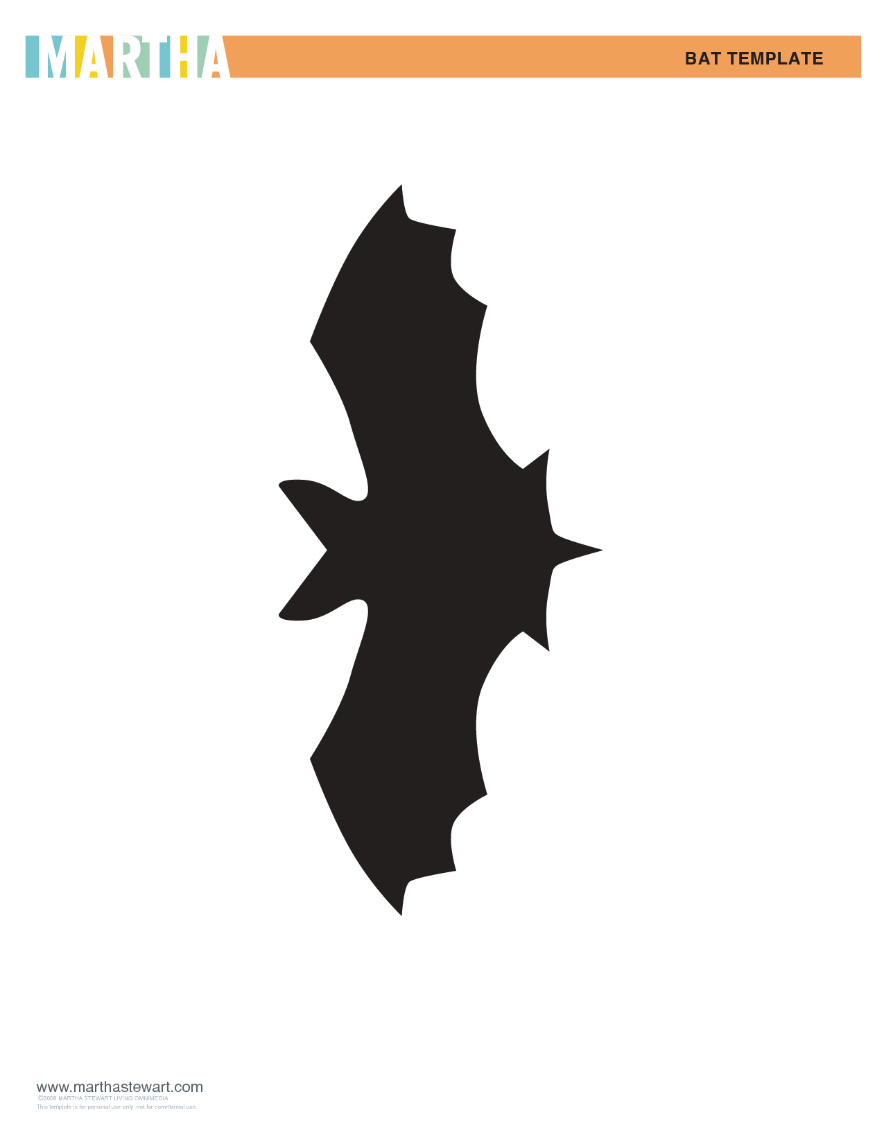 Martha Stewart Bat Template | Spiders and Bats | Pinterest | Bat ...