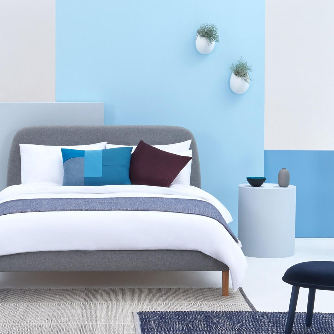 Simba Hybrid Upholstered Bed Frame With Headboard King Size
