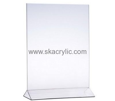 Custom Design Acrylic Sign Holders 11x17 Sign Stand Holder Clear