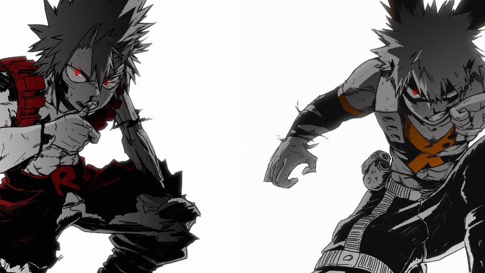 Kirishima And Bakugou Background Google Search My Hero Academia Kirishima My Hero