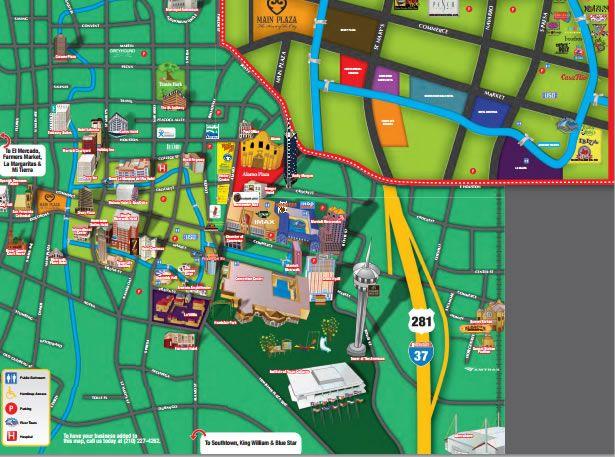 San Antonio Riverwalk Map & Alamo Plaza Map | WAHS Reunion Ideas ...